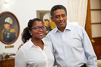 Seychelles Champion Angelique Pouponneau and President Danny Faurer