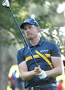 ST. LOUIS, MO - AUGUST 09: Henrik Stenson of Sweden watches his tee shot on the #11 hole during the first round of the PGA Championship on August 09, 2018, at Bellerive Country Club, St. Louis, MO.  (Photo by Keith Gillett/Icon Sportswire)