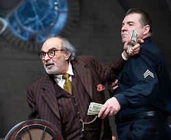 The Price <br /> by Arthur Miller <br /> 50th anniversary production presented by Theatre Royal Bath Productions and Jonathan Church Productions<br /> <br /> Wyndham's Theatre, <br /> London Great Britain <br /> Press photocall <br /> 7th February 2019 <br />  <br /> David Suchet as Gregory Solomon <br /> <br /> Brendan Coyle as Victor Franz <br /> <br /> <br /> <br /> Photograph by Elliott Franks