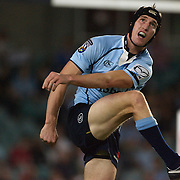 Sam Norton Knight in action during the Super14 match between the New South Wales Waratahs and Queensland Reds at the Sydney Football Stadium, Sydney, Australia on March 6, 2009. The Waratah's won the match 15-11. Photo by Tim Clayton.