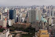 Sao Paulo_SP, Brasil...Imagem aerea de Sao Paulo com destaque para a Catedral da Se na Praca da Se...Sao Paulo aerial view. In this photo the Se Cathedral in the Se square...Foto: MARCUS DESIMONI / NITRO