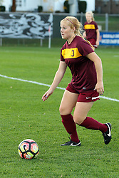 04 November 2016:  Taylor Lambouris during an NCAA Missouri Valley Conference (MVC) Championship series women's semi-final soccer game between the Loyola Ramblers and the Evansville Purple Aces on Adelaide Street Field in Normal IL