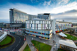 View of controversial new super hospital the Queen Elizabeth University Hospital ( QEUH) in Glasgow, Scotland, UK