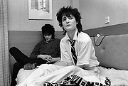Siouxsie Sioux and the Banchees relax at the hotel before the concert 1979