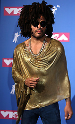 August 20, 2018 - New York City, New York, U.S. - Singer LENNY KRAVITZ  poses for photos in the press room for the 2018 MTV 'VMAS' held at Radio City Music Hall. (Credit Image: © Nancy Kaszerman via ZUMA Wire)