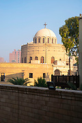 Early morning image of the Monastery and Church of St. George, Kom Ghorab, Old Cairo, Egypt, seen from the Hanging Church.