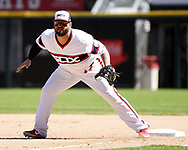 CHICAGO - JUNE 02:  Yonder Alonzo #17 of the Chicago White Sox fields against the Cleveland Indians on June 2, 2019 at Guaranteed Rate Field in Chicago, Illinois.  (Photo by Ron Vesely)  Subject:  Yonder Alonzo