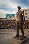 A statue of Mustafa Kemal Ataturk, the founder of modern Turkey, in the central square of Kayseri.