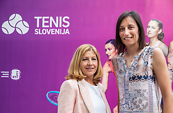 PORTOROZ, SLOVENIA - SEPTEMBER 19:  Mima Jausovec and  Katarina Srebotnik of Slovenia during the WTA 250 Zavarovalnica Sava Portoroz at SRC Marina, on September 19, 2021 in Portoroz / Portorose, Slovenia. Photo by Vid Ponikvar / Sportida