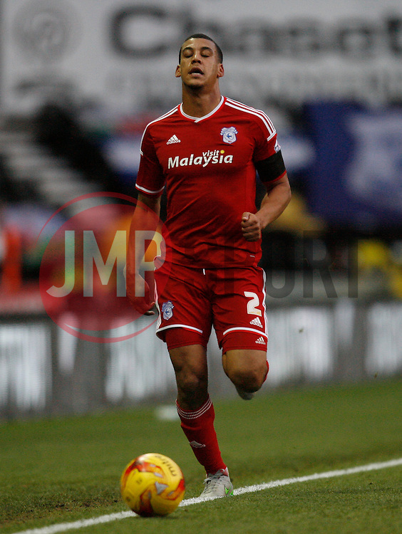 Lee Peltier of Cardiff City - Mandatory byline: Jack Phillips / JMP - 07966386802 - 21/11/2015 - FOOTBALL - The iPro Stadium - Derby, Derbyshire - Derby County v Cardiff City - Sky Bet Championship