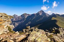 THEMENBILD - Nussingkogel (2991m) und Kendelspitze (3085m) in der Granatspitzgruppe am Sonntag 08. August 2020, Kals am Großglockner, Nationalpark Hohe Tauern, Österreich // Peaks of the Nussingkogel (l) (2991m) Kendelspitze (r) (3085m) in the Granatspitz group on Sunday 08 August 2020, Kals am Grossglockner, Hohe Tauern National Park, Austria EXPA Pictures © 2020, PhotoCredit: EXPA/ Johann Groder