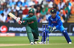 Bangladesh's Tamim Iqbal in action during the ICC Champions Trophy, semi-final match at Edgbaston, Birmingham.