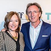 NLD/Amsterdam/20161005 - Filmpremiere Tonio, Regisseur André van Duren met zijn vrouw Marieke Engbers