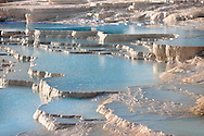 Photo & Image  of Pamukkale Travetine Terrace, Turkey. Images of the white Calcium carbonate rock formations. Buy as stock photos or as photo art prints. 1 Pamukkale travetine terrace water cascades, composed of white Calcium carbonate rock formations, Pamukkale, Anatolia, Turkey .<br /> <br /> If you prefer to buy from our ALAMY PHOTO LIBRARY  Collection visit : https://www.alamy.com/portfolio/paul-williams-funkystock/pamukkale-hierapolis-turkey.html<br /> <br /> Visit our TURKEY PHOTO COLLECTIONS for more photos to download or buy as wall art prints https://funkystock.photoshelter.com/gallery-collection/3f-Pictures-of-Turkey-Turkey-Photos-Images-Fotos/C0000U.hJWkZxAbg