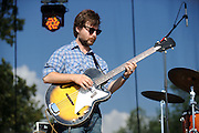 Fruit Bats performing at LouFest in St. Louis on August 29, 2010.