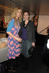 Left to right, LAURA BAILEY and SHEHERAZADE GOLDSMITH at a lunch to celebrate the launch of the Top Tips for Girls website (toptips.com) founded by Kate Reardon held at Armani, Brompton Road, London on 5th March 2007.<br />