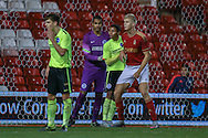 Brighton U18 Remi Meyers  during the FA Youth Cup match between U18 Nottingham Forest and U18 Brighton at the City Ground, Nottingham, England on 10 December 2015. Photo by Simon Davies.
