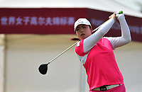 (140306) -- HAIKOU, March 6, 2014 (Xinhua) -- Feng Shanshan of China competes in the 2014 World Ladies Golf Championship in Haikou, capital of south China s Hainan Province, March 6, 2014. A total of 108 golfers around the world participated in the championship. <br /> Norway only