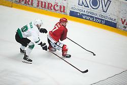 Gregor KOBLAR Miha PESJAK during First league between HDD Acroni Jesenice vs HK SZ Olimpia, on April 23, 2019 in Jesenice, Slovenia. Photo by Peter Podobnik / Sportida