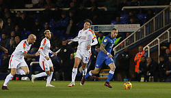 Marcus Maddison of Peterborough United gets away from the Luton Town defence - Mandatory by-line: Joe Dent/JMP - 13/11/2018 - FOOTBALL - ABAX Stadium - Peterborough, England - Peterborough United v Luton Town - Checkatrade Trophy