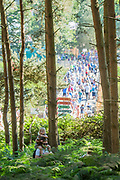 The view from the woods - The 2018 Latitude Festival, Henham Park. Suffolk 14 July 2018
