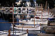 SPAIN. Balearic Islands: tranquil cove on SE coast of Mallorca (Majorca).