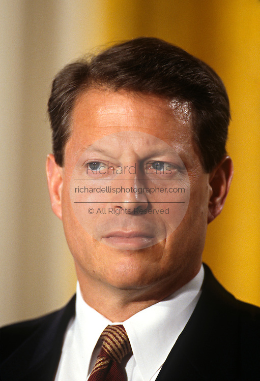 U.S. Vice President Al Gore during an event at the White House April 2, 1997 in Washington, DC.