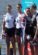 Sarasota. Florida  USA left. USA W2X. Bow. Meghan O'LEARY and Ellen TOMEK. Silver Medalist. Sunday Final's Day at the  2017 World Rowing Championships, Nathan Benderson Park<br /> <br /> Sunday  01.10.17   <br /> <br /> [Mandatory Credit. Peter SPURRIER/Intersport Images].<br /> <br /> <br /> NIKON CORPORATION -  NIKON D500  lens  VR 500mm f/4G IF-ED mm. 200 ISO 1/1000/sec. f 7.1