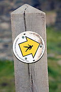 Pembrokeshire Coast path national trail footpath sign marker