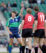 2004 England vs Canada - Investec Challenge - Twickenham.<br /> Australian referee Scott Young.<br /> 13.11.2004 Photo  Peter Spurrier. <br /> email images@intersport-images.com