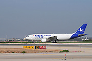 Israel, Ben-Gurion international Airport An MNG Cargo jet ready for takeoff