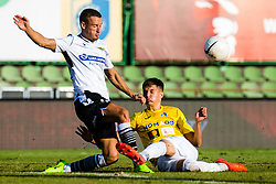 Nino Zugelj of NK Bravo vs Timotej Dodlek of NK Koper during football match between NK Bravo and NK Koper in 4th Round of Prva liga Telekom Slovenije 2020/21, on September 19, 2020 in Sport park ZAK, Ljubljana, Slovenia. Photo by Grega Valancic / Sportida