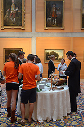 Refeshements at the Yale Center for British Art Undergraduate Open House '12