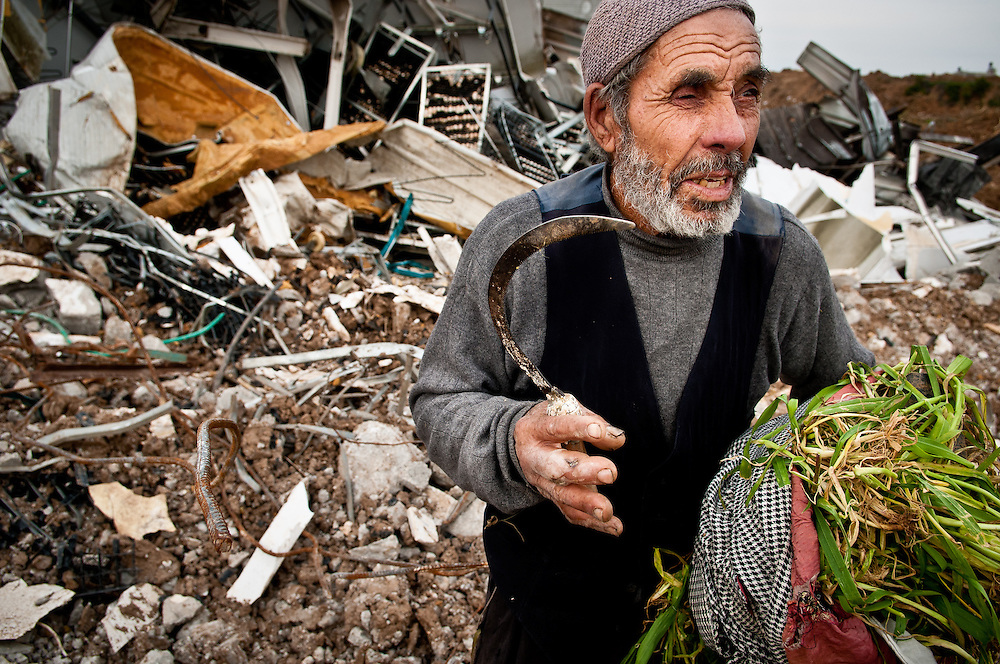 Ahmed Hussein's chicken farm in the Jabaliya refugee camp was demolished by an Israeli airstrike.