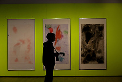 © London News Pictures. 25/09/2017. Hull, UK. Phone Etching by Andrea Buttner one of four artists shortlisted for Turner Prize 2017 at the Ferens Gallery in Hull, Britain. The exhibition is open to the public from 26 Sep 2017 to 7 Jan 2018. Picture by NIGEL RODDIS/LNP