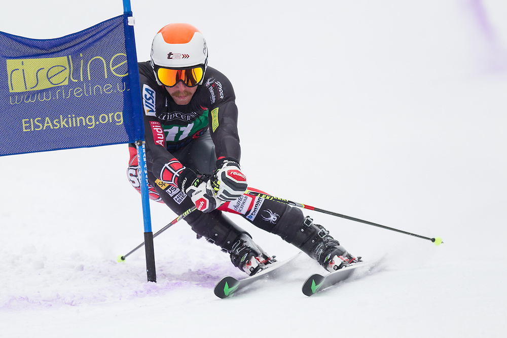 Michael Ankeny, skis during the second run of the men's giant slalom at Jiminy Peak on February 15, 2014 in Hancock, MA. (Dustin Satloff/EISA)