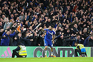 Chelsea's Diego Costa celebrate his goal during the Barclays Premier League match between Chelsea and Manchester United at Stamford Bridge, London, England on 7 February 2016. Photo by Ellie Hoad.