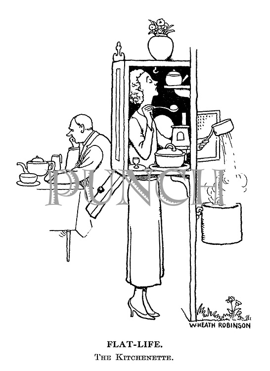Flat-Life. The Kitchenette.