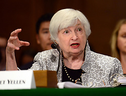 July 13, 2017 - Washington, District of Columbia, U.S. - JANET L. YELLEN, Chair, Board of Governors of the Federal Reserve System, testifies before the United States Senate Committee on Banking, Housing, and Urban Affairs on 'The Semiannual Monetary Policy Report to the Congress' on Capitol Hill. (Credit Image: © Ron Sachs/CNP via ZUMA Wire)