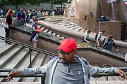 Berlin, Germany, 30 may 2014, Breidscheitplatz,  Weltkugelbronnen.