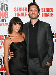 May 1, 2019 - MAGGIE GONZALES and BRIAN THOMAS attends The Big Bang Theory's Series Finale Party at the The Langham Huntington. (Credit Image: © Billy Bennight/ZUMA Wire)