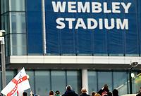 Photo: Alan Crowhurst.<br />England U21 v Italy U21. International Friendly. 24/03/2007. England fans at Wembley Stadium.