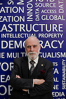 Father of the Internet Vint Cerf (Google) during the 7th Internet Governance Forum  (IGF) annual  meeting held at the Baku Expo Exhibition and Convention , Baku, Azerbaijan.