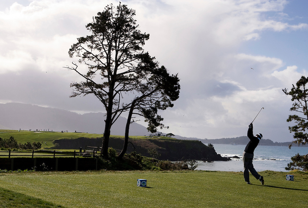 Vijay Singh on the fifth hole at Pebble Beach during the 2009 AT&T Pro Am