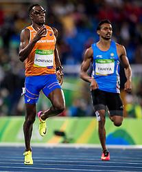 12-08-2016 BRA: Olympic Games day 7, Rio de Janeiro<br /> Een prima race voor Liemarvin Bonevacia in zijn serie op de 400 meter. Hij eindigt als derde en is daardoor geplaatst voor de halve finales.