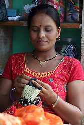 Nava Kala Sharma was trained at the MEDEP funded centre and has now rented premises next door to run her own small business, MEDEP Supported, Sangita Training Centre, Patichaur, Ward 9 Deupur VDC  Pokhara, Nepal.