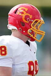 19 September 2015:  Jake Sterns during an NCAA division 3 football game between the Simpson College Storm and the Illinois Wesleyan Titans in Tucci Stadium on Wilder Field, Bloomington IL