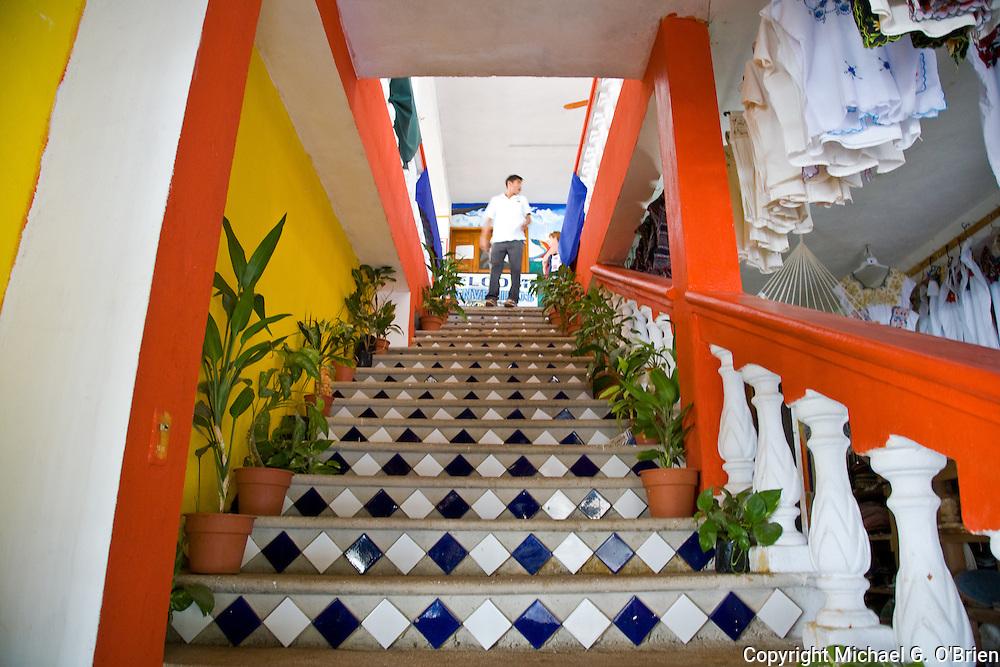 Mexican staircase 2 near Coba