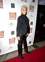 Karen Hauer at the Message in a Bottle press night , Peacock Theatre, London