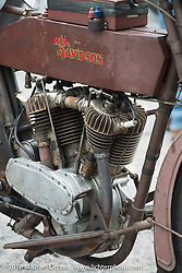 Victor Boocock's 1914 Harley-Davidson at the Hosted lunch stop at Cyclemos Museum in Red Boiling Springs, TN during Stage 4 of the Motorcycle Cannonball Cross-Country Endurance Run, which on this day ran from Chatanooga to Clarksville, TN., USA. Monday, September 8, 2014.  Photography ©2014 Michael Lichter.